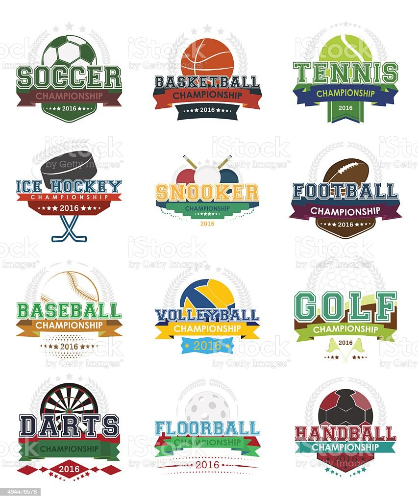 Sport icons vector - set vector art illustration