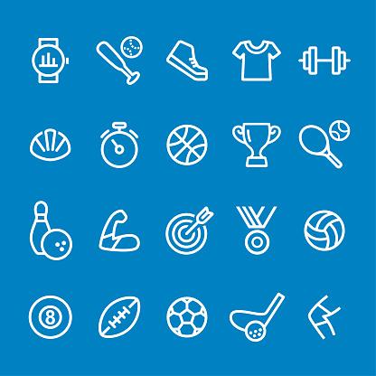 Sport Icons - Vector Smart Line Series