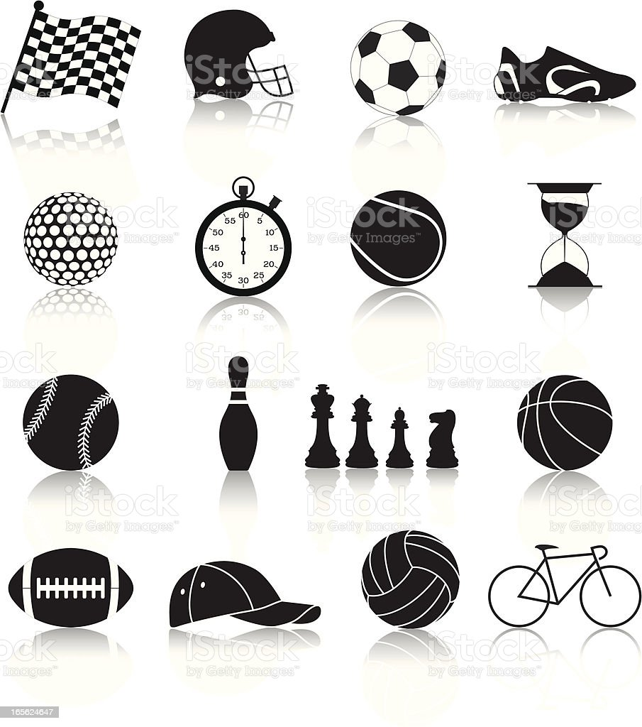 sport icons-1 royalty-free sport icons1 stock vector art & more images of ball