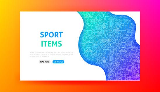 Sport Items Landing Page