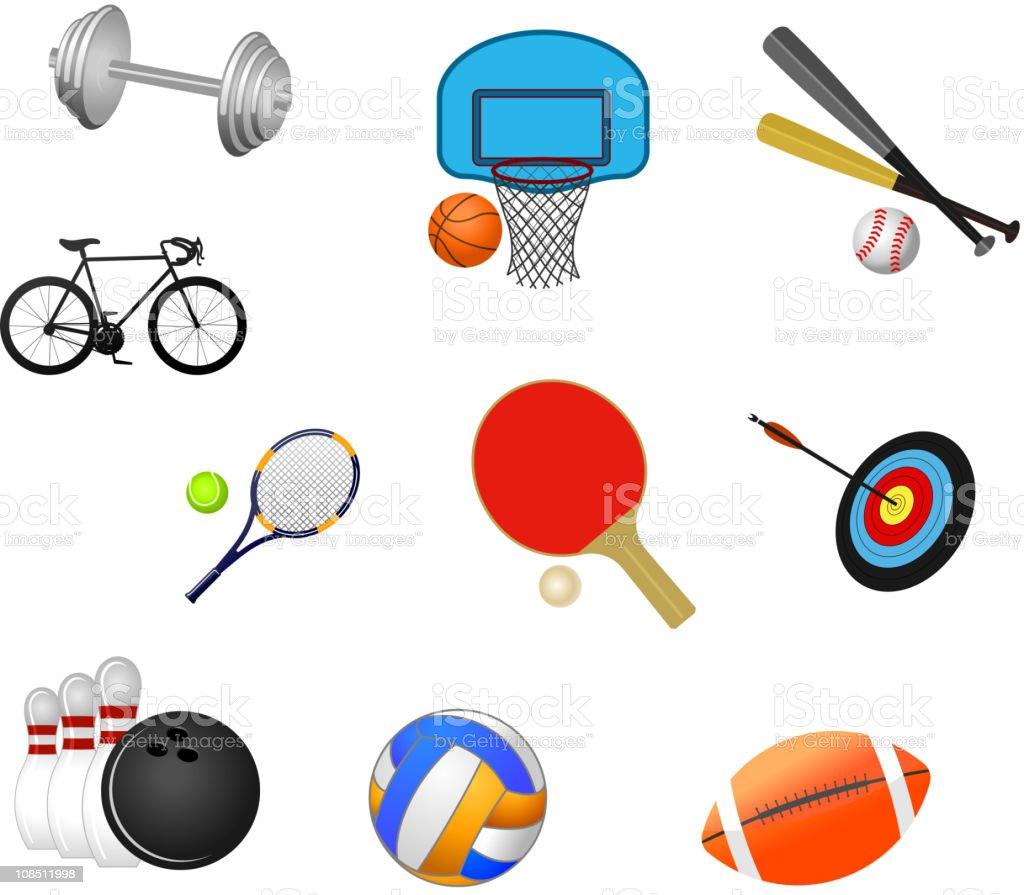 Sport items royalty-free stock vector art