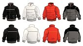 A vector illustrated jacket ready to be personalized. It´s simple, so it can be edited, but as complex as necessary for it to look good. Basic gradients used. Includes print-optmized CMYK native Freehand and Illustrator files, besides high & low resolution screen oriented RGB .jpgs. Almost imperceptible color shift between both systems.