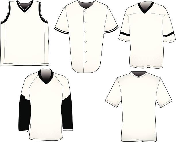 Sport jerseys templates vector art illustration
