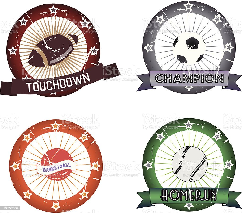 sport labels vector art illustration