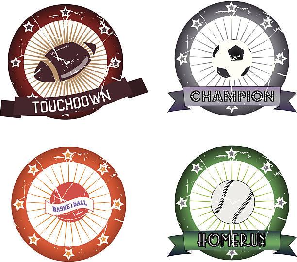 スポーツのラベル - 高校スポーツ点のイラスト素材/クリップアート素材/マンガ素材/アイコン素材
