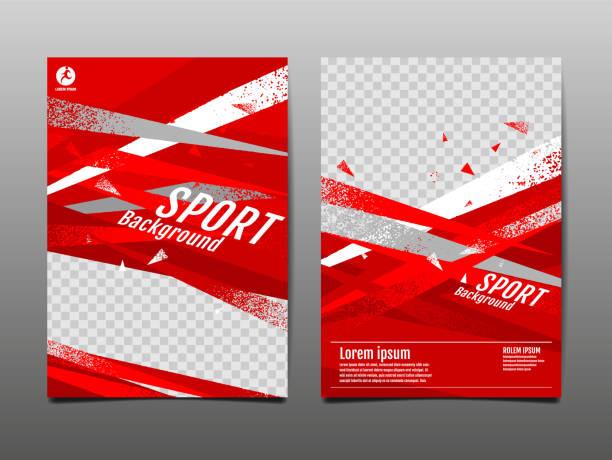 スポーツレイアウト、テンプレートデザイン、抽象的な背景、ダイナミックポスター、ブラシスピードバナー、グランジ、ベクトルイラストレーション。 - スポーツ点のイラスト素材/クリップアート素材/マンガ素材/アイコン素材