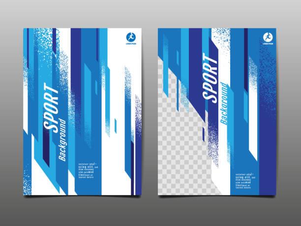 スポーツレイアウト、テンプレートデザイン、抽象的な背景、ダイナミックポスター、ブラシスピードバナー、グランジ、ベクトルイラストレーション。 - sports点のイラスト素材/クリップアート素材/マンガ素材/アイコン素材