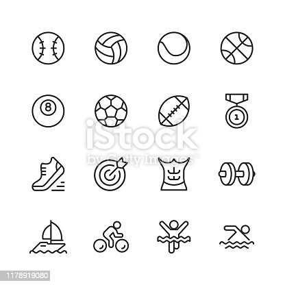 16 Sport Outline Icons.