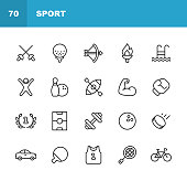 20 Sport Outline Icons.