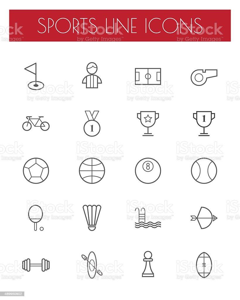 sport line icons set. vector art illustration