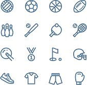 Sport line icons