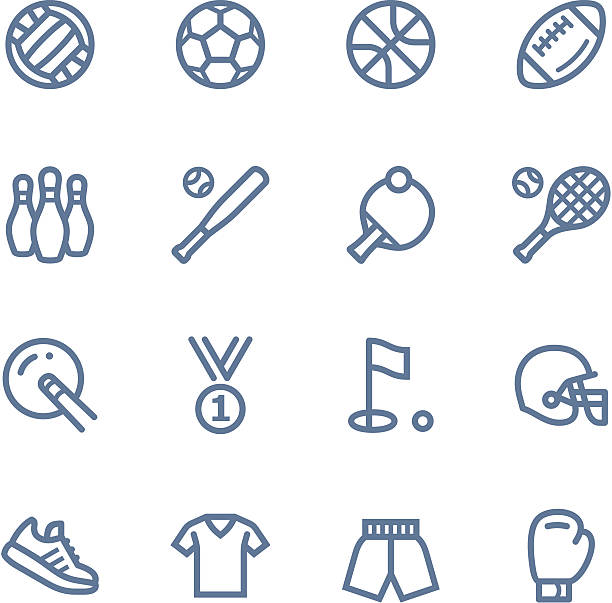 sport line icons - paddle sports stock illustrations