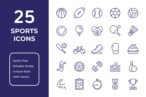 Sport Line Line Icon Design