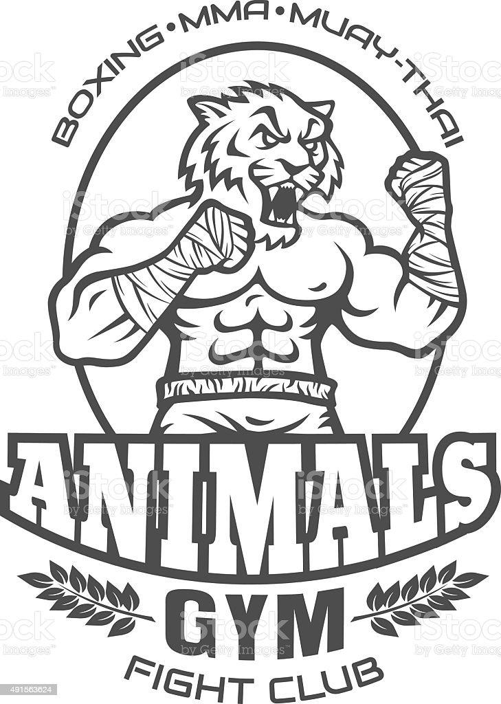 sport logo for fighting club