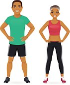 Sport man and woman