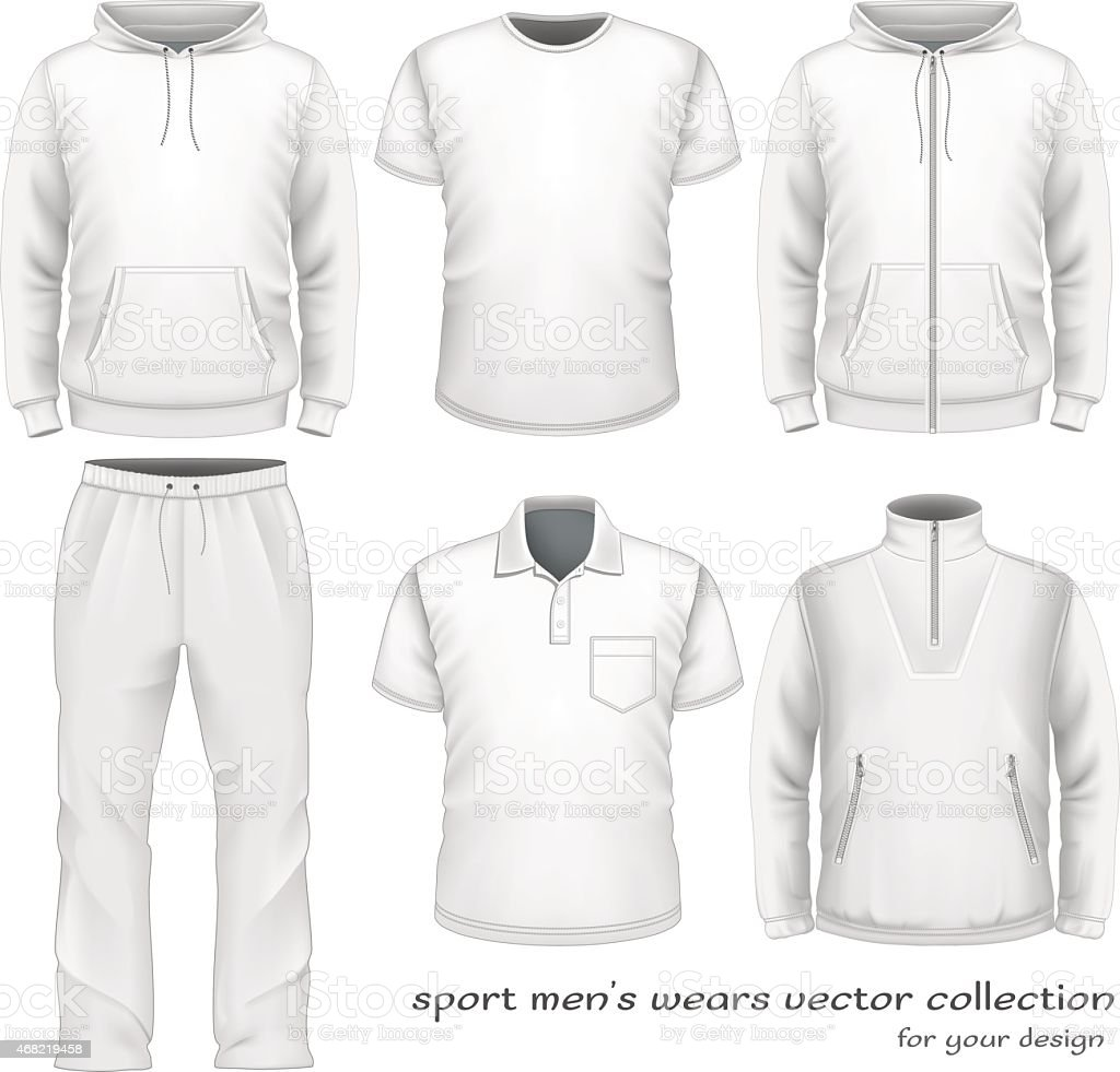 Sport men wear collection. royalty-free sport men wear collection stock illustration - download image now