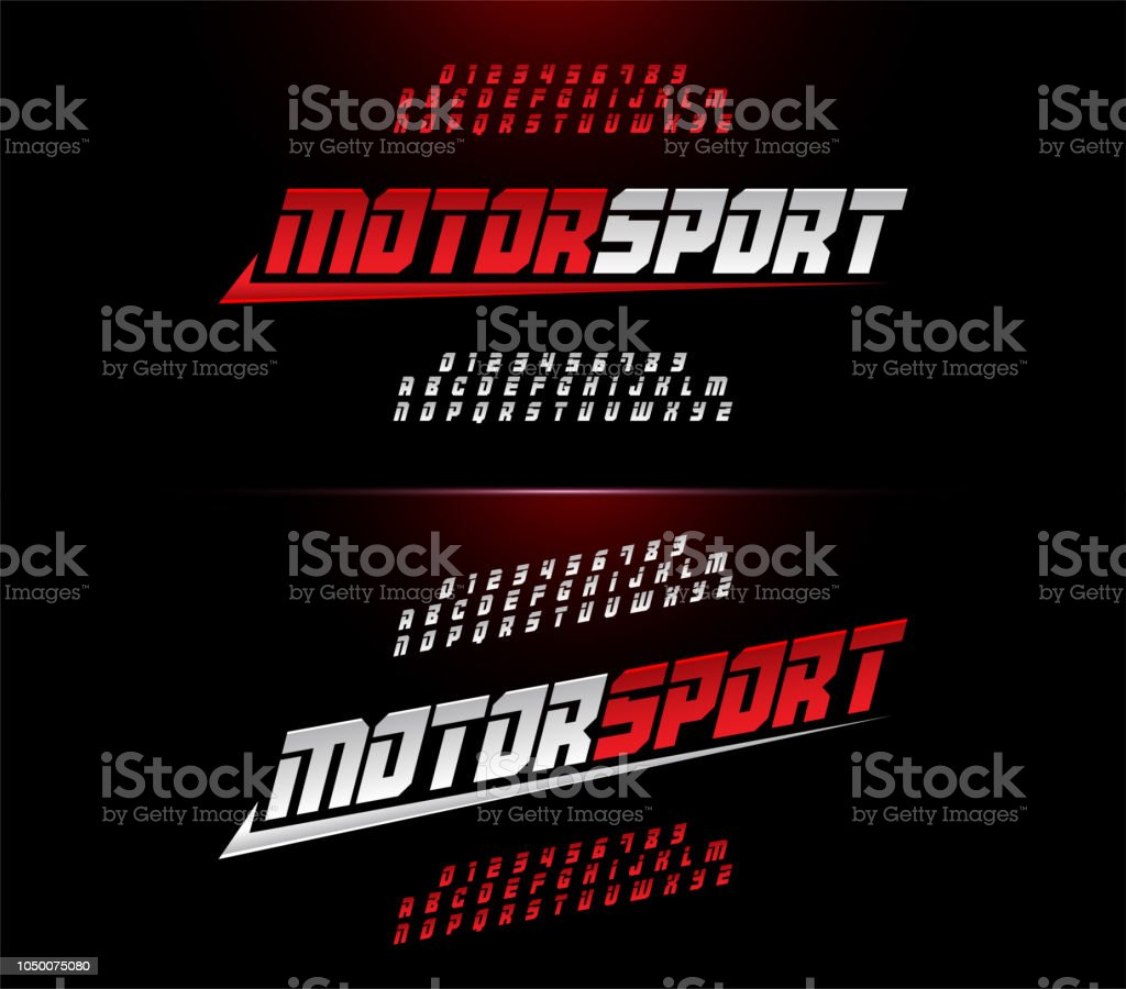 Sport Modern Alphabet And Number Fonts Motor Sport Racing