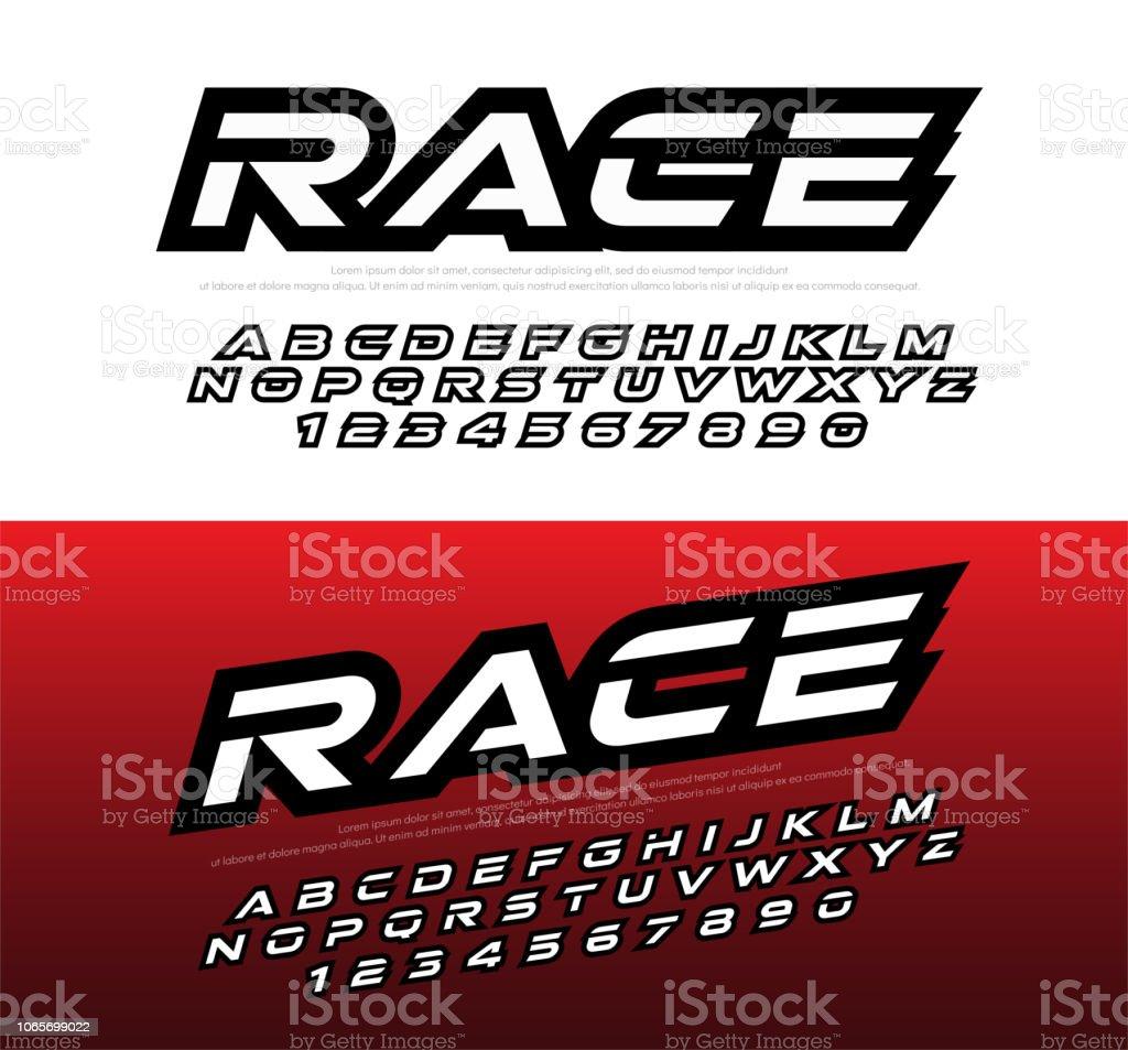 fbb2b7aa2 esporte moderno alfabeto e números fontes. Corrida de fonte em itálico de  tipografia letras maiusculas