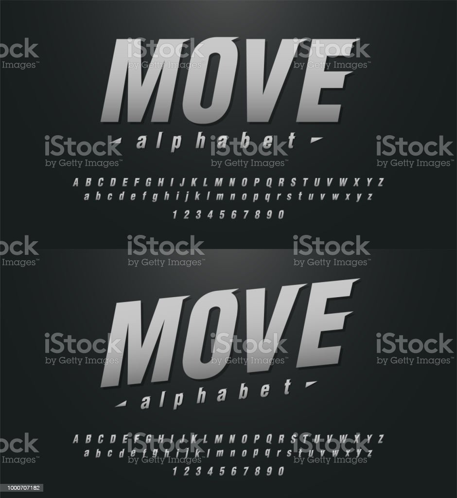 sport modern alphabet and number fonts. technology typography italic font uppercase and lowercase. vector illustrator royalty-free sport modern alphabet and number fonts technology typography italic font uppercase and lowercase vector illustrator stock illustration - download image now