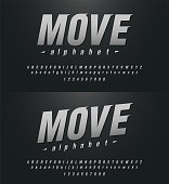 sport modern alphabet and number fonts. technology typography italic font uppercase and lowercase. vector illustrator