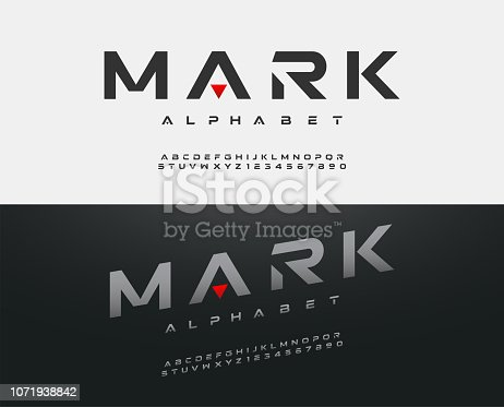 sport modern alphabet font. typography fonts  uppercase regular and italic technology concept design. vector illustration