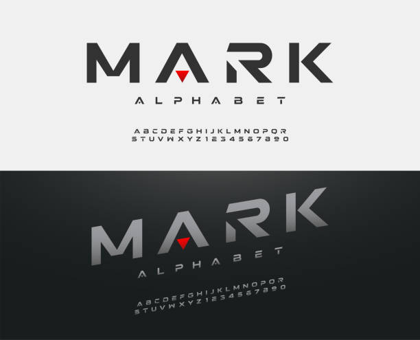 sport modern alphabet font. typography fonts  uppercase regular and italic technology concept design. vector illustration sport modern alphabet font. typography fonts  uppercase regular and italic technology concept design. vector illustration alphabet icons stock illustrations