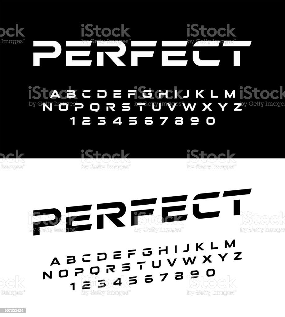 409630103 números e fontes de alfabeto moderno do esporte. Fonte de tipografia letras  maiusculas e número