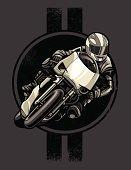 Sport Motorcycle Racer: Retro Pinstripe Version