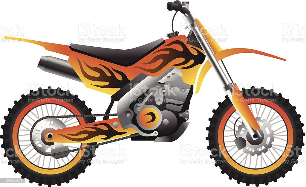 Sport motorcycle with tribal design vector art illustration