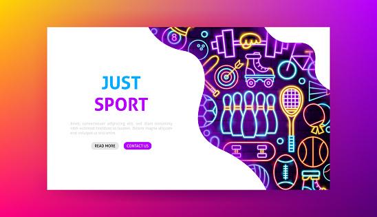 Sport Neon Landing Page