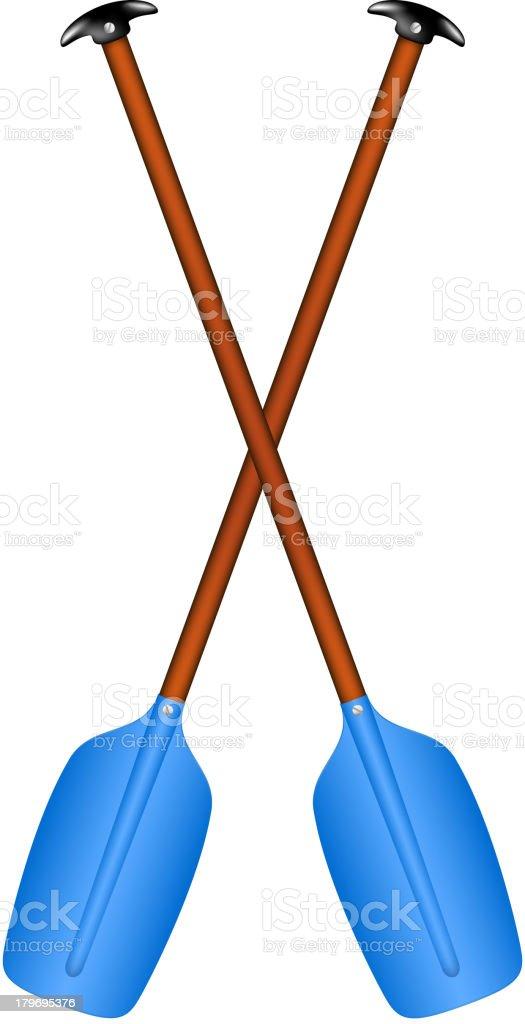 Sport oars vector art illustration