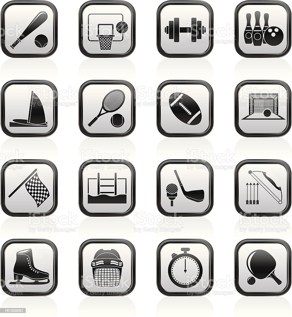 Sport objects icons royalty-free stock vector art