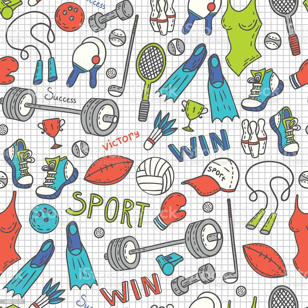 Sport pattern royalty-free sport pattern stock vector art & more images of 2015