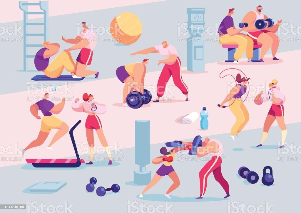 Personnel De Sport Entraineur Personnel Individuel Dentraineur Dans La Gymnastique Dessin Anime S Vecteurs Libres De Droits Et Plus D Images Vectorielles De Adulte Istock