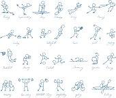 sport people vector set
