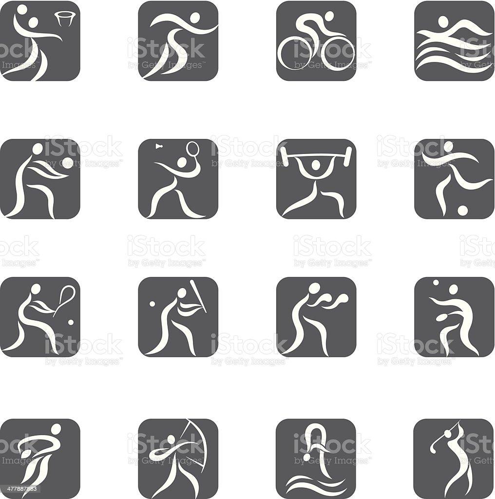 Sport pictogram set royalty-free stock vector art