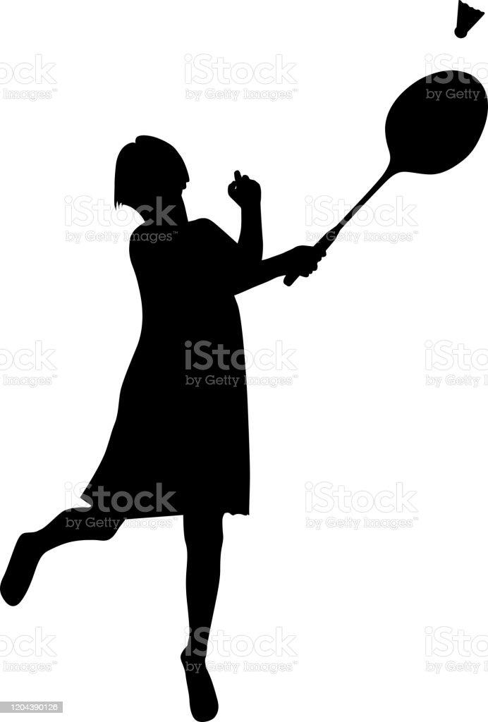 スポーツ選手バドミントンをする少女のベクトルシルエット 1人のベクターアート素材や画像を多数ご用意 Istock