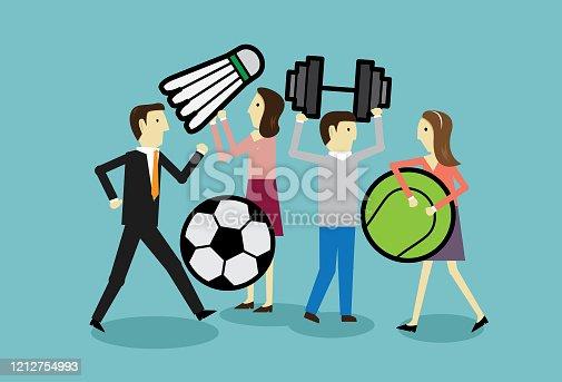 Team, Sport, Illustration, Gold, Coach