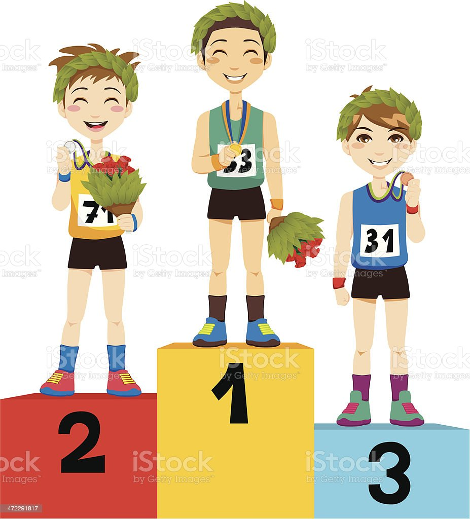Sport Podium Winners royalty-free sport podium winners stock vector art & more images of achievement
