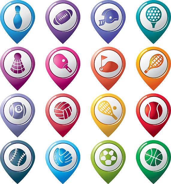 sport-zeigestab symbole - stiftehalter stock-grafiken, -clipart, -cartoons und -symbole