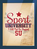 Retro Sport University Motivation Poster Varsity Style
