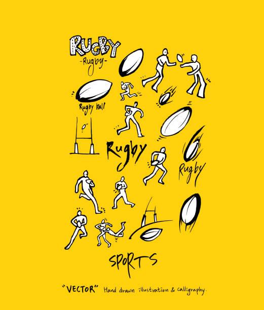 sport-poster - rugby stock-grafiken, -clipart, -cartoons und -symbole