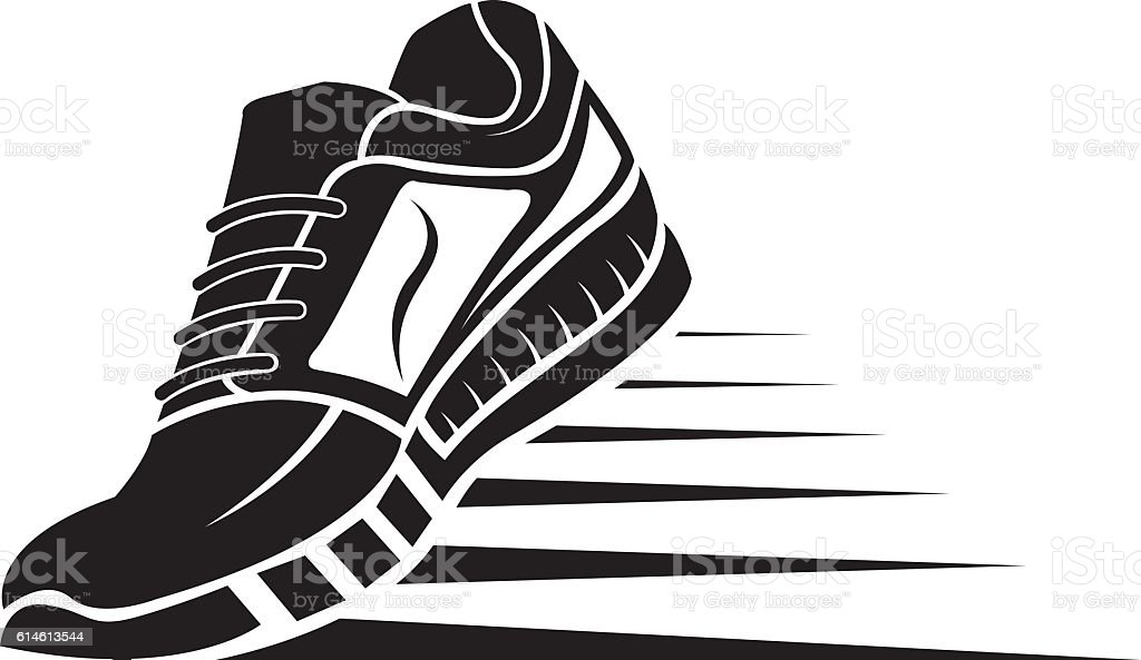 royalty free sneakers clip art vector images illustrations istock rh istockphoto com sports shoes clipart clipart running shoes vector
