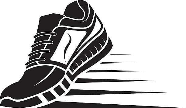 ilustrações, clipart, desenhos animados e ícones de sport shoe icon - tênis