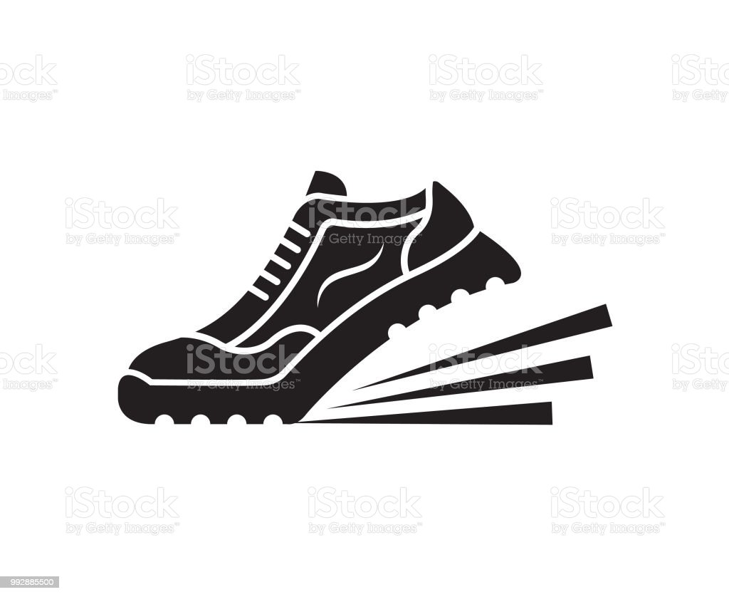 Sport Schoen Pictogram Stockvectorkunst en meer beelden van Afbeelding