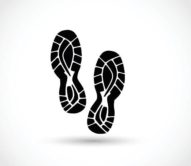спортивная обувь принтом вектор - оттиск stock illustrations