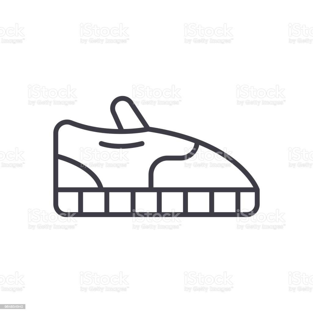 Sport shoes black icon concept. Sport shoes flat  vector symbol, sign, illustration. royalty-free sport shoes black icon concept sport shoes flat vector symbol sign illustration stock vector art & more images of athlete