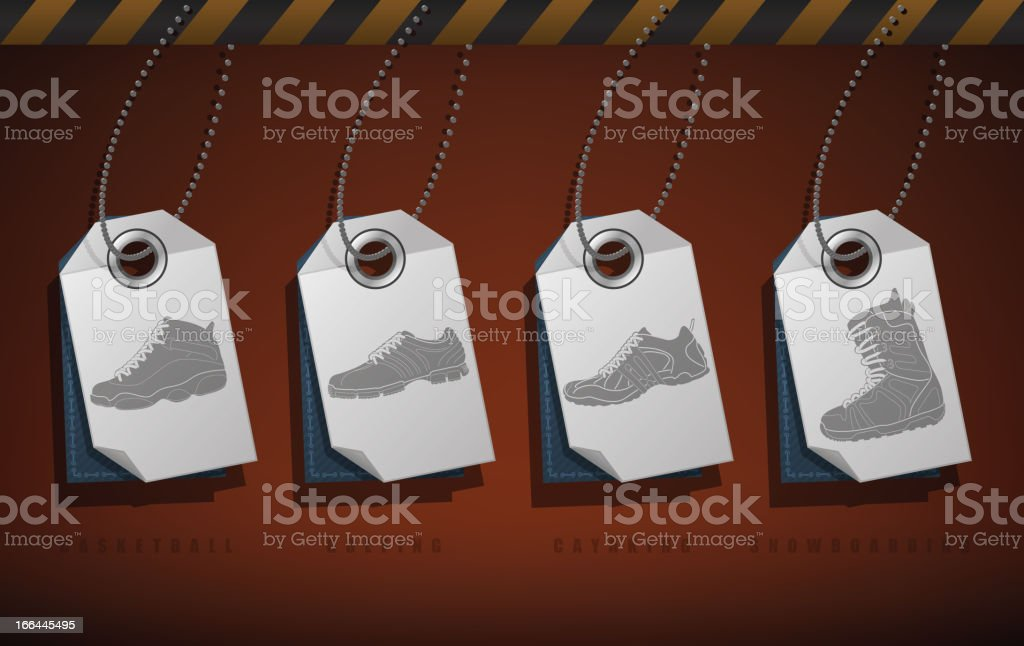 Sport Shoes royalty-free stock vector art
