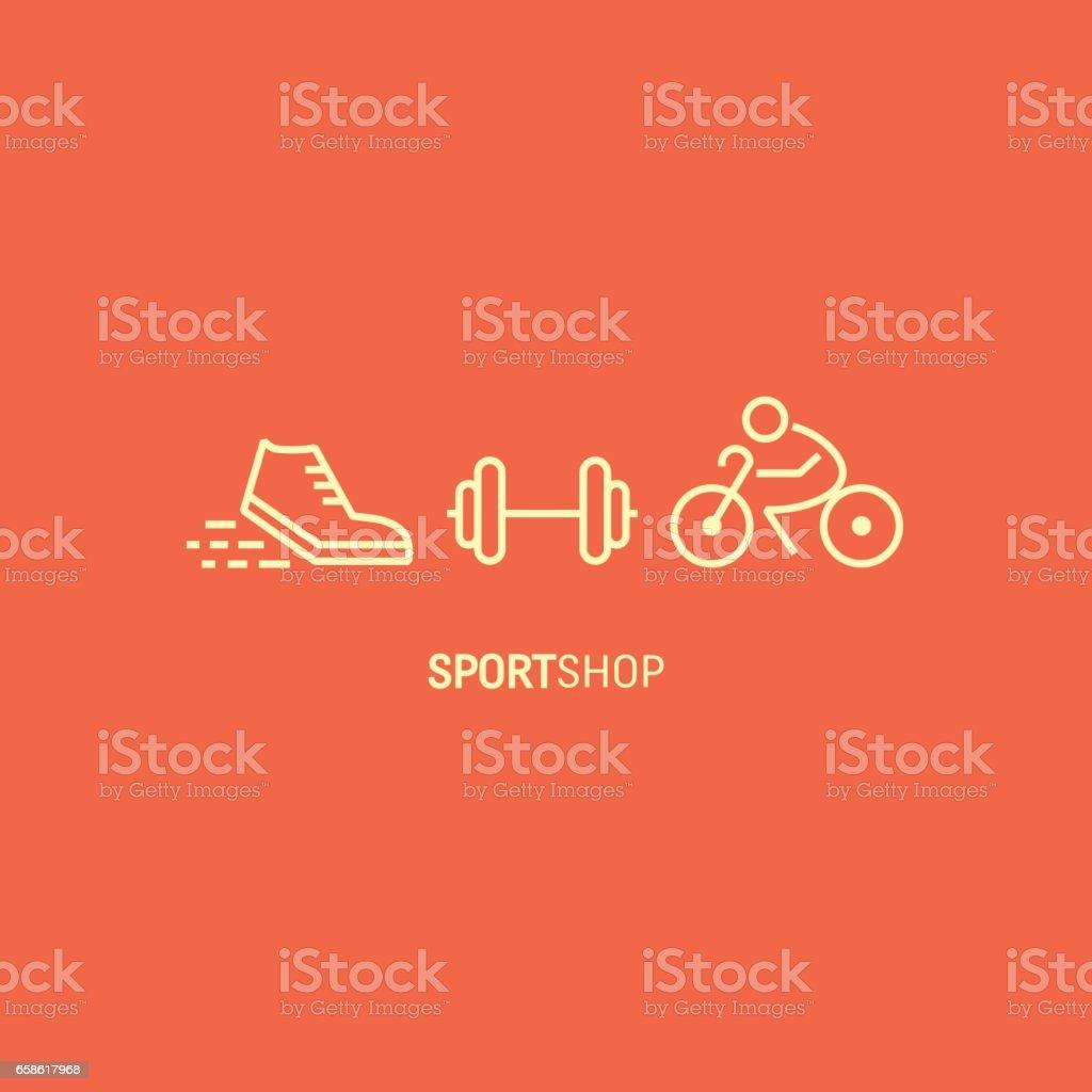 8a6403e95 Bandeira De Loja De Desporto - Arte vetorial de acervo e mais ...