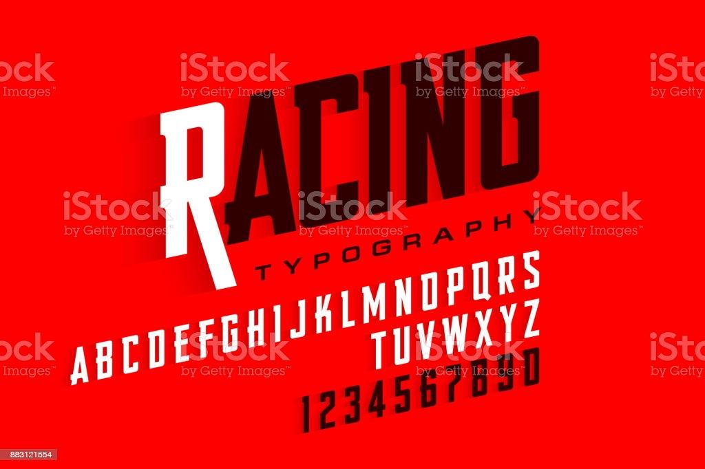 Sport style font vector art illustration